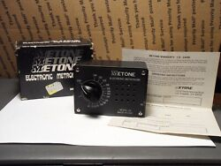 Vintage Metone Model 23 Electronic Metronome With Box Tested Works Good