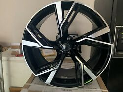 Audi Rs6 Style 21 New Wheels Q7 Sq7 A8 S8 Glossed Black Machined Face