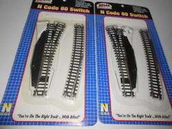Lot Of 2 - New Atlas Standard N 80 Scale Left And Right Switch 2702 And 2703 Manual