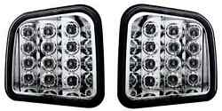 2007 2008 09 Hummer H3 Crystal Clear Custom Led Front Parking/signal Light Pair