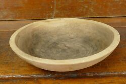 Vintage Primitive Marquette Turned Maple Wooden Wood Dough Bowl Solid Wood 11andrdquo