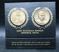 1964 John Fitzgerald Kennedy Memorial Medals By Presidential Art Medals Inc -t2