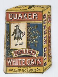 Quaker Rolled Oats Box Victorian Trade Card Opens Two Ways With Quaker