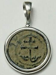 Ancient Coins Of The Crusades Roman Bronze Coin Sterling Silver Pendant 50