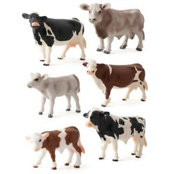 Miniatures Cows Cow Action Figure Plastic Models Simulated Animal Figurines