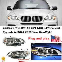 For 2008-2013 Bmw X6 E71 Led Headlights Afs Drl Lens Beam 14 15 Replace Bi-xenin