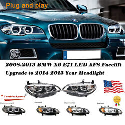 For Bmw X6 E71 Headlight Assembly Bi-xenon Lens Projector Led Drl 08-13 To 14 15