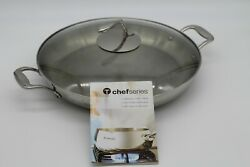 Tupperware Chef Series 14 Inch/4 Qt/3.7 L Casserole Fry Pan With Lid/cover