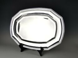 Ravinet Dand039enfert - Large Dish / Tray - Antique Sterling French Minerve Silver