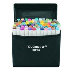 Touchnew Alcohol Markers 30/40/60/80/168 Colors Dual Head Sketch Markers Brush