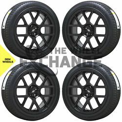 20x9 Charger Challenger Scatpack Rt Black Wheels Rims Tires Factory Oem Set 2527