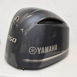 Yamaha Boat Outboard Motor Cowling 250 Hp Fourstroke Gray - Scratches