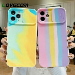 Camera Protection Watercolor Painting Phone Case For Iphone 11 12pro Max 12