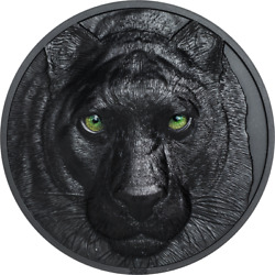 Palau 2020 10 - Black Panther Andndash Hunters By Night - 2 Oz Silver Coin