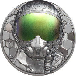 Cook Islands 2020 20 - Fighter Pilot Andndash Real Heroes - 3 Oz Silver Coin