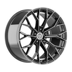 4 Hp3 20 Inch Staggered Black Tint Rims Fits Ford Fusion 2006 - 2012