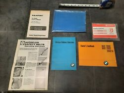 Bmw1602 1802 2002 Tii Vintage Owners Manual / Handbook 70-74 And Automatic