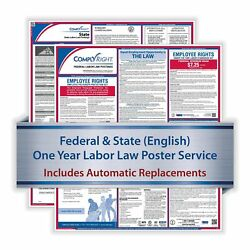 Complyright 1 Year Poster Service Puerto Rico English Federal And State