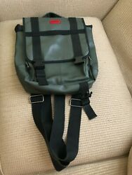 Hugo Boss Neoprene Green Messenger Backpack Convertible Laptop Bag. $39.00
