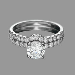 2 Ct Natural Diamond Set Round D/si1 14k White Gold Size 6 Engagement Ring