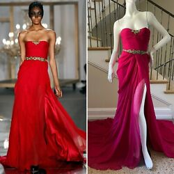 Jason Wu Spring 2011 Dramatic Strapless Red Evening Dress with Train $975.00