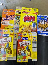 Lot Of 5 Vintage Empty The Simpsons Cereal Boxes