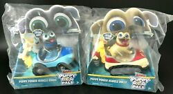 New Lot Of 2 Disney Junior Puppy Dog Pals Bingo And Rolly Power Vehicle Cars