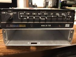 King Kma-20 Audio Panel Pn 066-1024-03 S/n 7959 With Mounting Tray