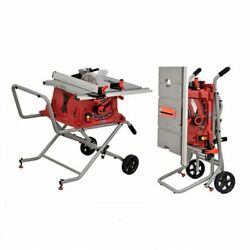 V0 220v 1800w 10 Portable Table Bench Saw 250mm Cutting Tool W/ Folding Stand