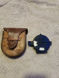 Vintage Keuffel And Esser Prismatic Compass New York With Leather Case