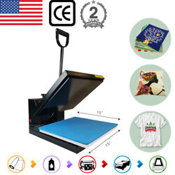 15x15 Clamshell Heat Press Transfer Machine Sublimation For T-shirt Diy Gifts