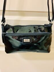 New Jessica Simpson Crossbody Small Black zippered Closure Patent Faux Leather $32.95