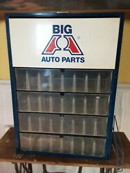 Big A Auto Parts Metal Sign Cabinet Nice 19wx4dx26 3/4t