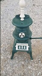 Antique Cast Iron Pot Belly Stove Lamp The Atlanta Stove Works No 40 1889