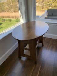 50960ec Stickley Oval Mission Oak Parlor Style Table