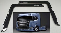 Scania Series 6 2pc Truck Smoke Tint Window Visor Shade/vent Wind/rain Deflector