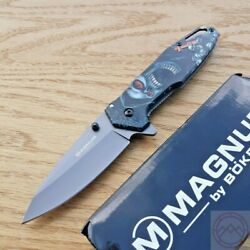 Boker Magnum Screaming Folding Knife 3.25 440a Steel Blade Stainless Handle