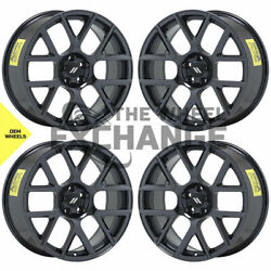 20x9 Dodge Charger Challenger Scatpack Black Chrome Wheels Rims Factory Oem 2527