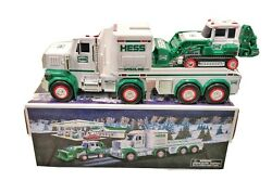 New In Box 2013 Hess Toy Truck And Tractor White Green In Original Packaging