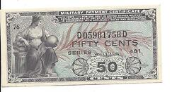 Mpc Series 481 50 Cents 3rd Printing  Gem Unc Scarce In This Grade