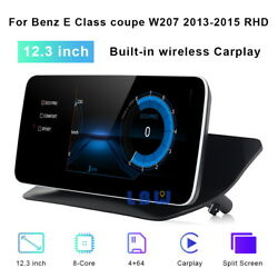 12.3 Android 10 Car Gps Touch Navi Screen For Benz E Class Coupe 2013-2015 Rhd