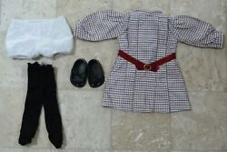 Meet Samantha Dress American Girl 18quot; Doll Retired Shoes Bloomers Black Tights $40.00