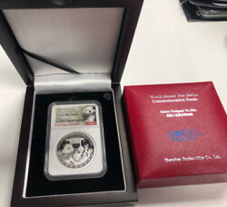2020 China 50g Ngc Berlin Money Fair Coin Pf70 U. Cameo First Day Issue Silver