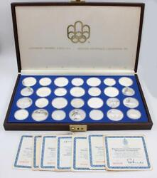 Olympics 1976 Montreal 28-coin Set All Proof Contains 28.7 Ounces Pure Silver