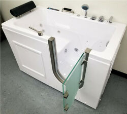 56 Computerized Hydrotherapy Whirlpool Air/water Jetted Walk-in Spa Bathtub Tub