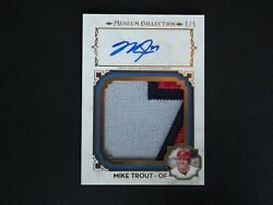 2014 Topps Museum Collection Mike Trout Auto Autograph Jersey Patch 1/5 D2b