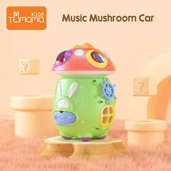 Baby Electronic Musical Toddler Toy Mushroom Cart Activity  Toys Gifts