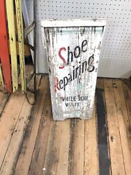 Antique A Frame Sidewalk Shoe Repair Sign- 5095