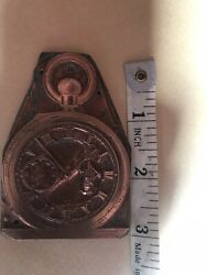 Antique Printing Block Pocket Watch By Dent Clock Advertising