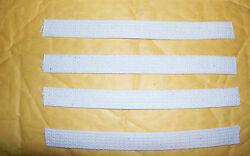 Four 3/4 Wide Wicks For Oil Or Kerosene Lamps, 8 Inches Long Usa Made 7849